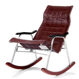 Кресло-качалка на металлическом каркасе