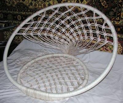 Плетение спинки кресла
