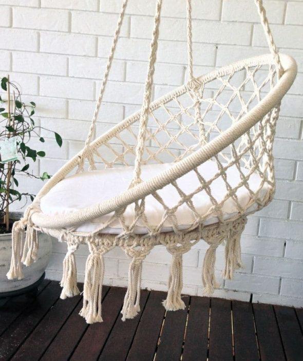Кресло-гнездо в готовом виде
