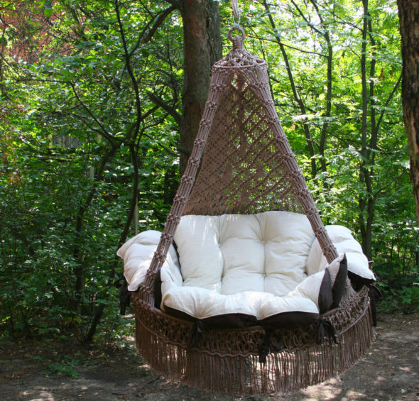 Кресло гнездо подвесное своими руками