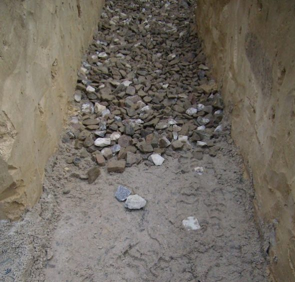 Песчано-гравийная подушка ленточного фундамента