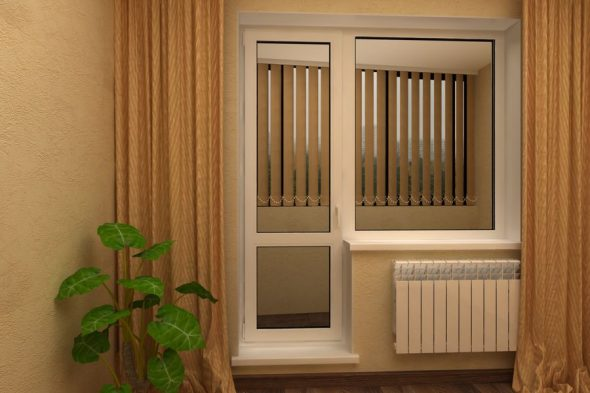 Вариант балконной двери
