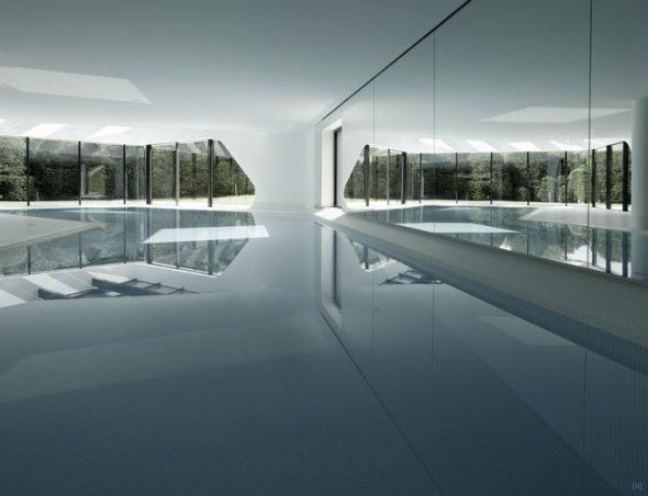 Бассейн в особняке в Германии