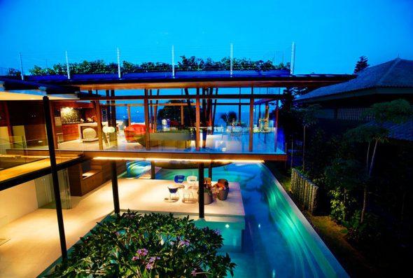 Часть дома Fish House в Сингапуре
