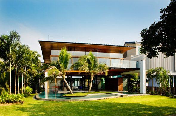 Самый красивый дом Fish House в Сингапуре
