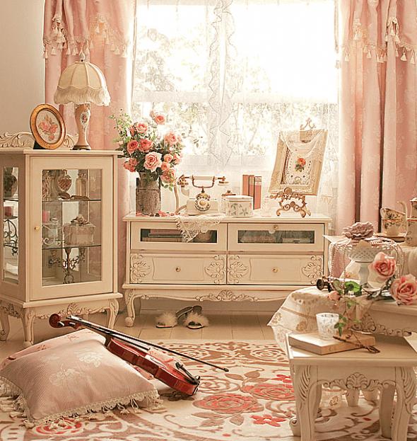 Декор интерьера в стиле шебби-шик