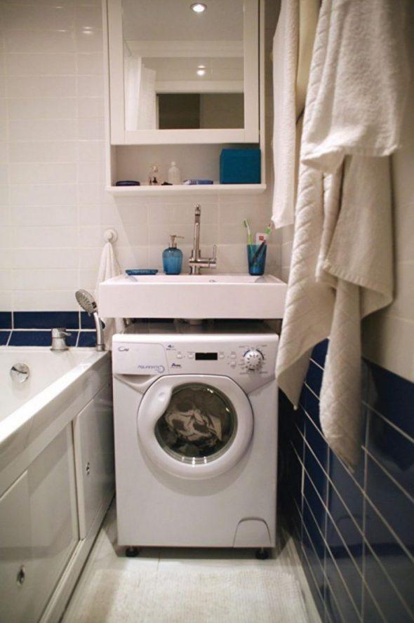 Размещение стиральной машины в ванной