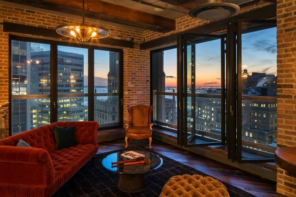 Дизайн квартиры с панорамными окнами