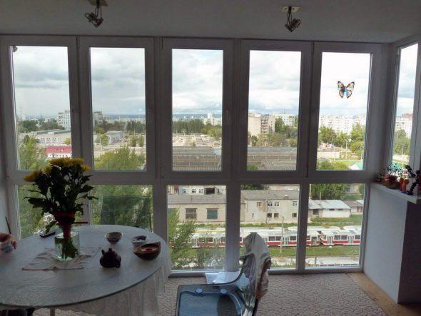 Столовая с панорамными окнами