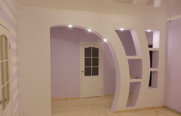 Сложная арка с подсветкой