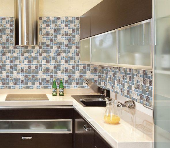 Отделка стен на кухне ПВХ-панелями