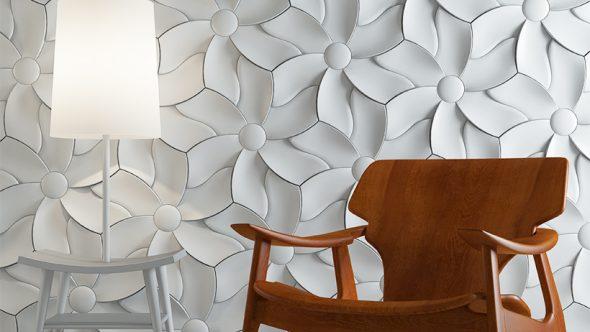 Оригинальное оформление стены