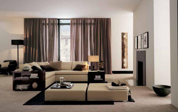 Уютная комната в стиле хай-тек