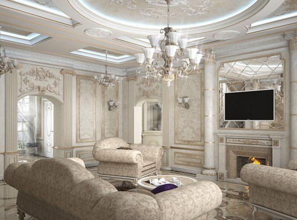 Гостиная в классическом стиле