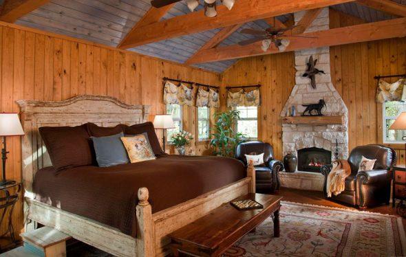 Спальня в стиле рустик