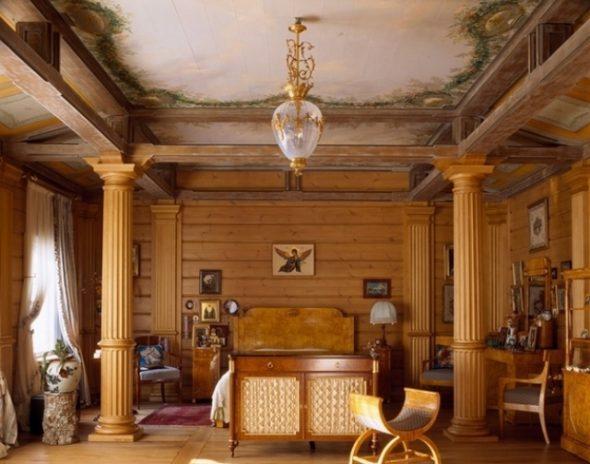 Интерьер дома в стиле русской усадьбы