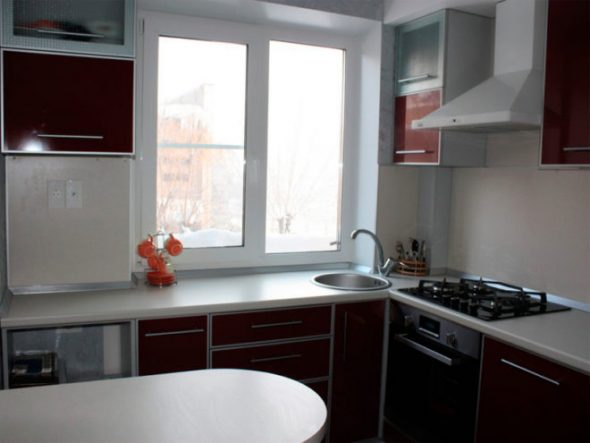 Интерьер кухни в квартире площадью 30 кв м