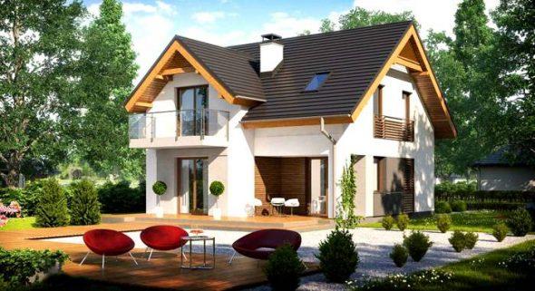 Проект дома с мансардой из пеноблоков