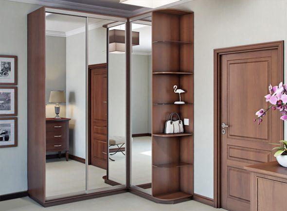 Фото шкафа в прихожей с зеркалами
