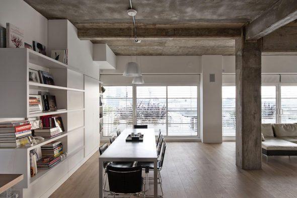 Бетонные потолки в интерьере
