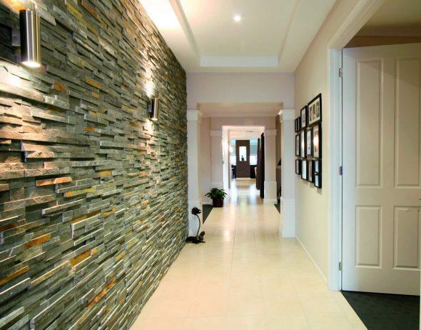 Покрытие стены декоративным камнем