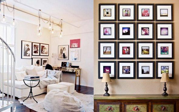 Украшение комнаты фотографиями и картинами