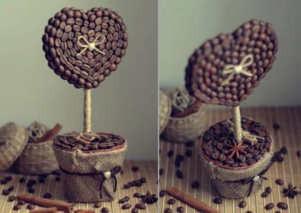 Декор из кофейных зёрен