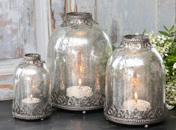 Подсвечники из стеклянных банок