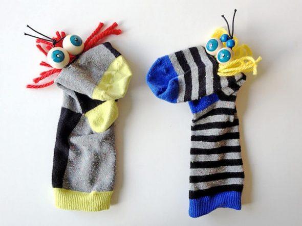 Игрушки для домашнего театра из носков