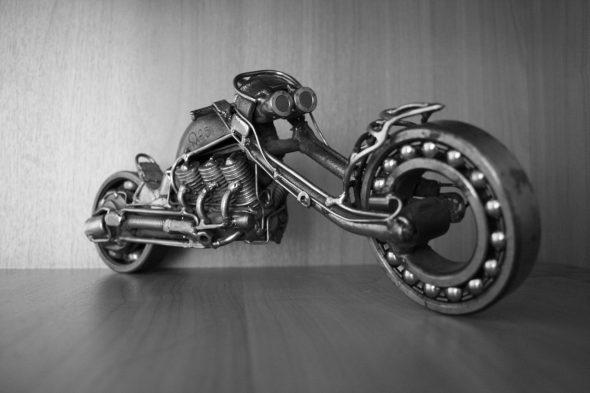 Мотоцикл из металлолома