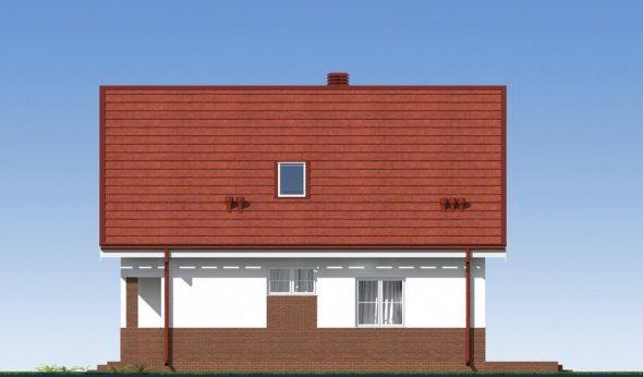 Визуализация бокового вида частного дома с терассой