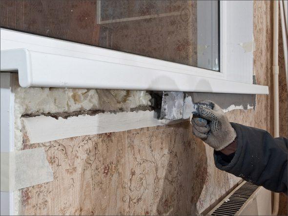 Утепление пластикового окна под подоконником