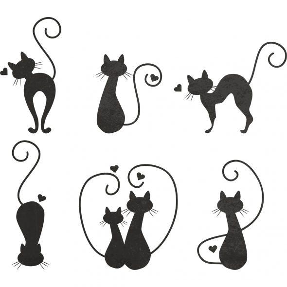 Изображение кошек в разных позах