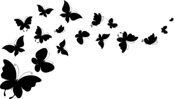 Бабочки для украшения стен в квартире