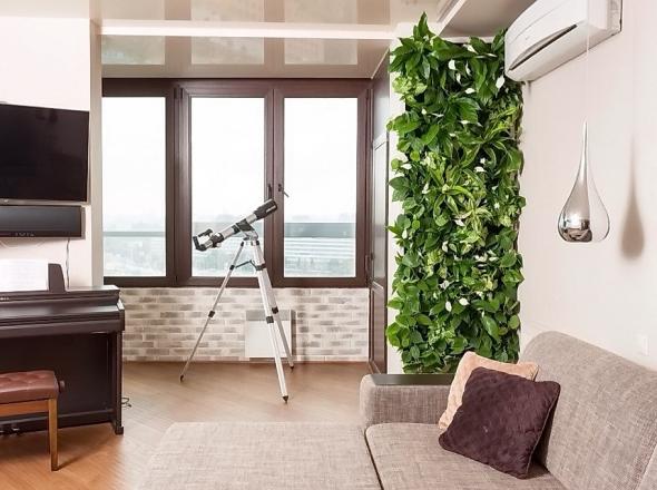Вертикальный сад в комнате