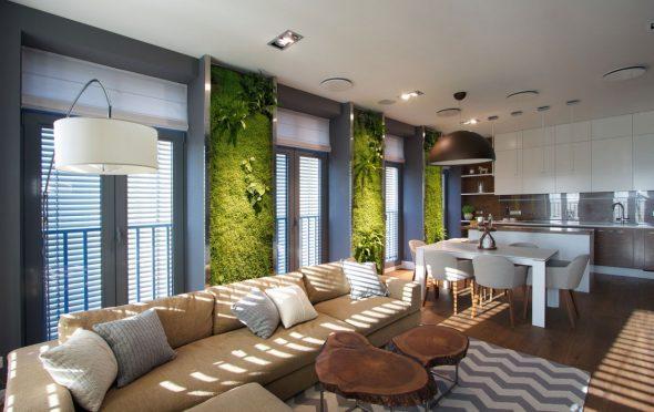 Вертикальный сад в квартире-студии
