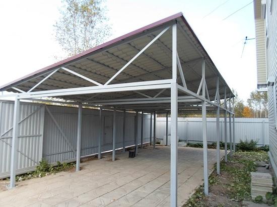 Использование металлопрофиля для изготовления каркаса односкатной крыши