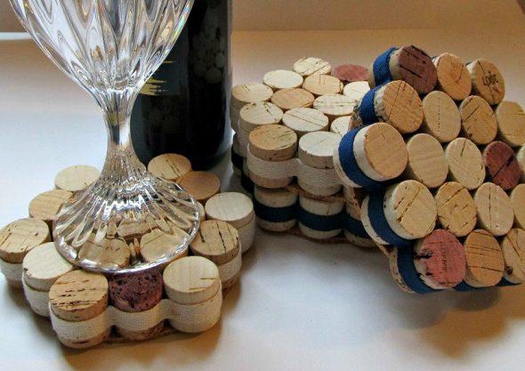 Подставки для бокалов из винных пробок