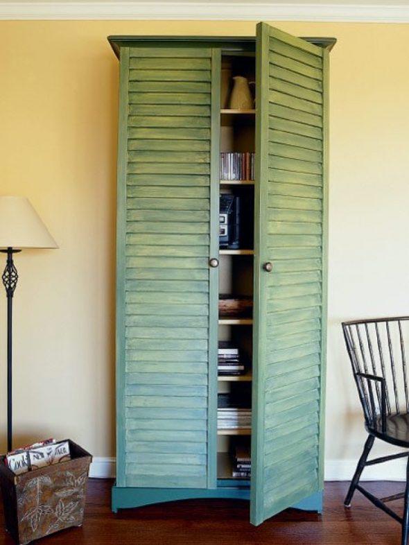 Шкаф с дверцами из жалюзи