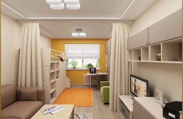 Разделение комнаты на разные зоны