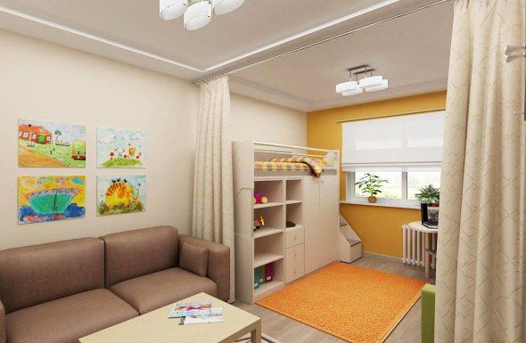 Разделение небольшой комнаты на разные зоны
