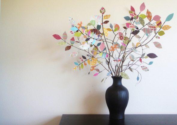 цветы из бумаги для декора комнаты