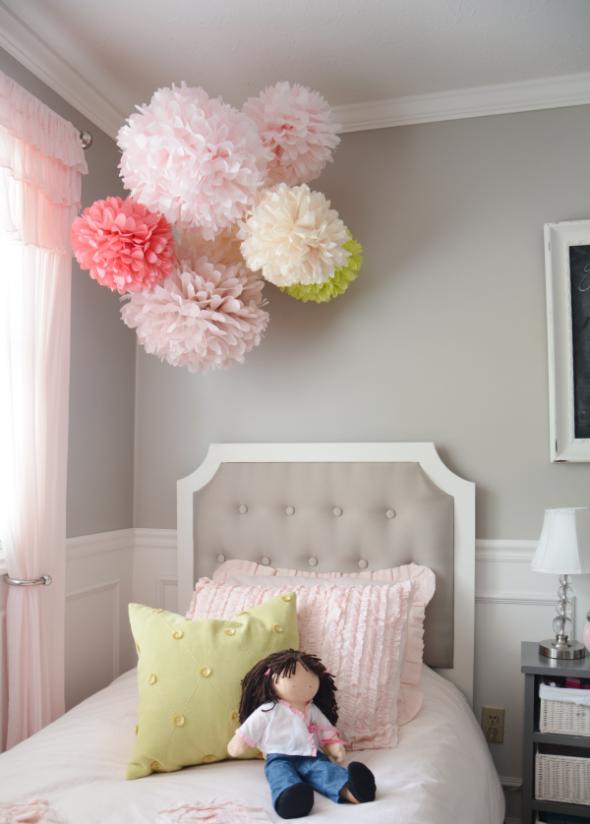бумажные цветы для декора комнаты
