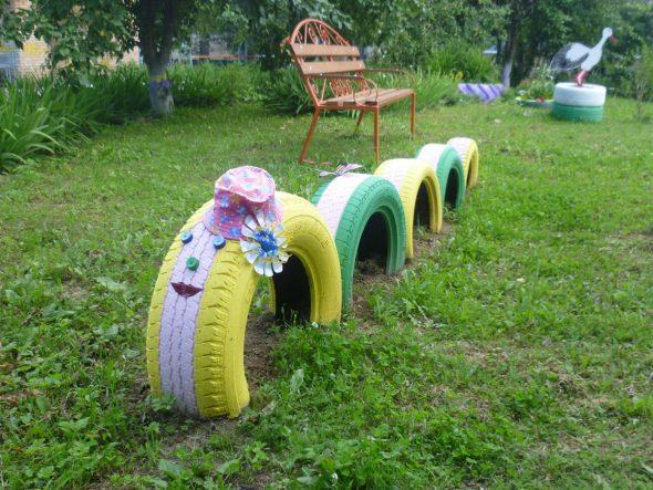 Покрышки для детской площадки