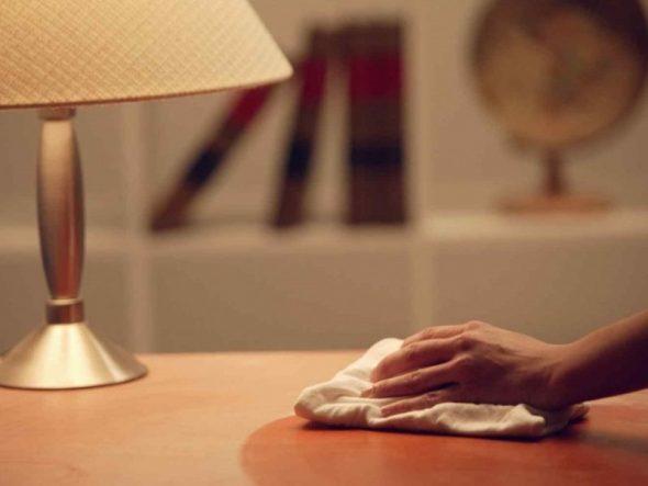 Обработка полированной мебели