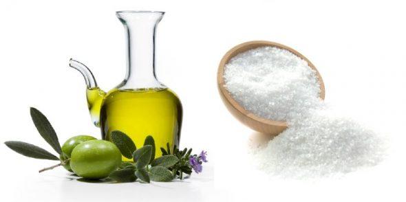 Оливковое масло и соль