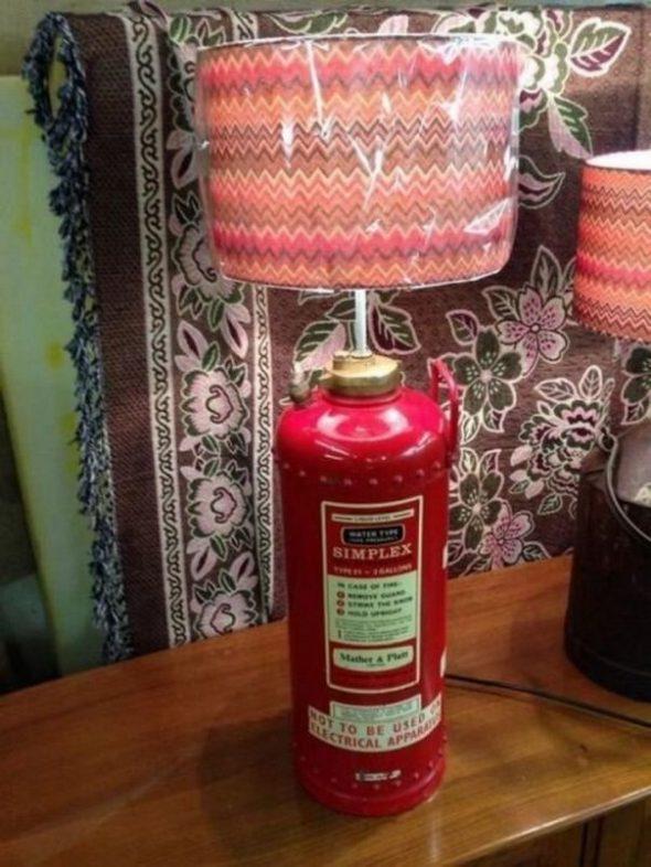 Настольная лампа из огнетушителя