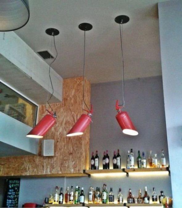 Светильники из огнетушителя