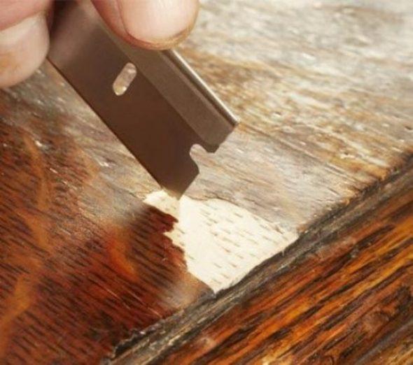 Ликвидация трещин на поверхности шпона