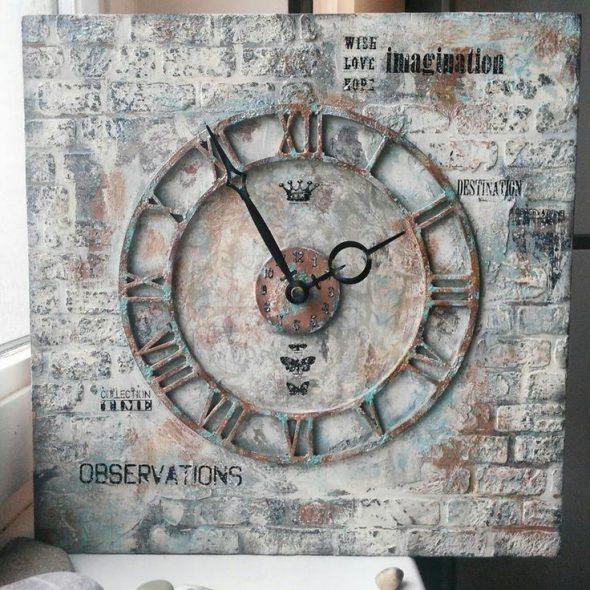 часы в стиле лофт своими руками